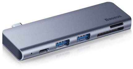 USB-концентратор Baseus Type-C to USB3,0x2/SD/TF/Type-C PD (CAHUB-K0G) для MacBook Pro