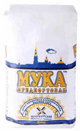 Мука пшеничная ПМК  предпортовая 2 кг