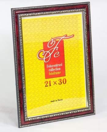 """Фоторамка """"Сертификат"""" пластиковая рубиновая, 21х30 см, А4"""