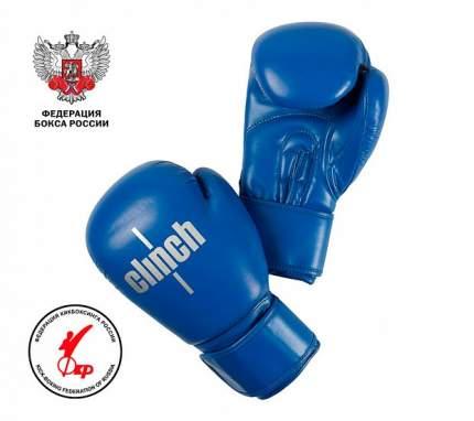 Боксерские перчатки Clinch Olimp Plus синие 12 унций