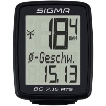 Велокомпьютер Sigma BC 7.16 ATS черный