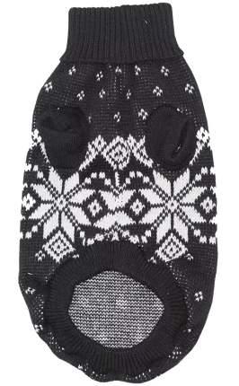 Свитер для собак Уют НC17М M, размер 30см, черный со снежинками