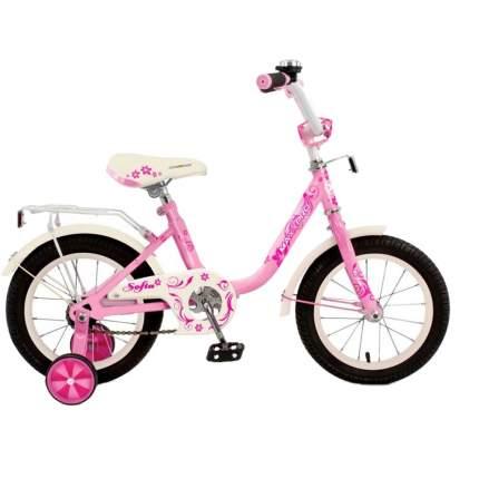 """Детский велосипед двухколесный MaxxPro Sofia 14"""" светло-розовый"""