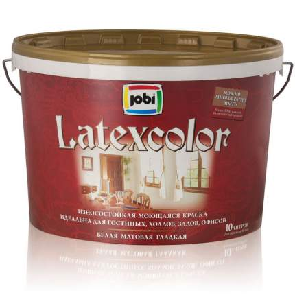 Краска JOBI LATEXCOLOR моющаясяся латексная 0,9л