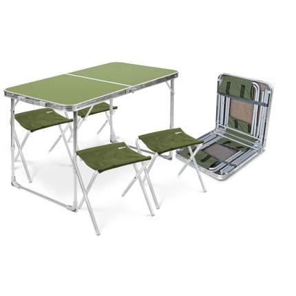 Туристический стол со стульями Nika ССТ-К2 серый/хаки