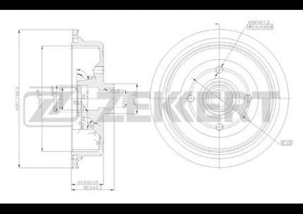 Тормозной барабан ZEKKERT BS-5065