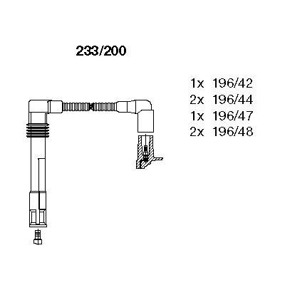 Комплект проводов зажигания BREMI 233/200