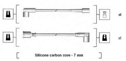 Комплект проводов зажигания MAGNETI MARELLI 941275020838