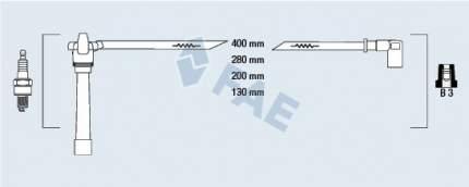Комплект проводов зажигания FAE 85647