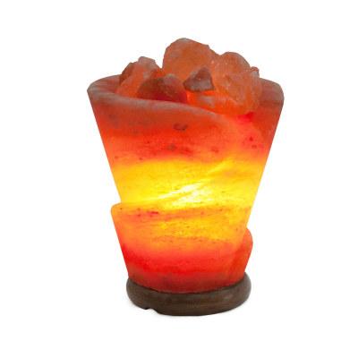 Соляная лампа Роза с диммером