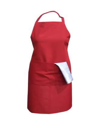 Фартук текстиль однотонный красный IQ Dekor 1761301