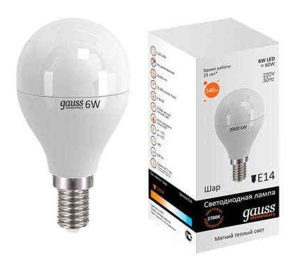 Лампа светодиодная E14 6W 3000K матовая 53116