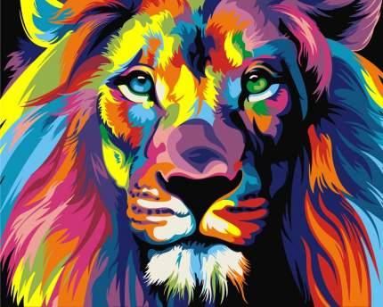 "Картина по номерам Артвентура ""Радужный лев"", 16,5x13 см"