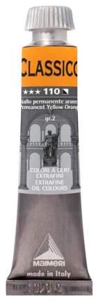 Масляная краска Maimeri Classico желтый прочный оранжевый 20 мл