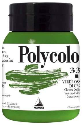 Акриловая краска Maimeri Polycolor 336 оксид хрома зеленый 500 мл