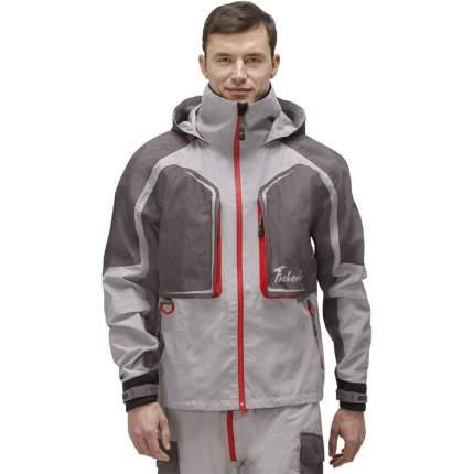 Куртка для рыбалки Nova Tour Fisherman Риф Prime, серая/красная, XS INT, 170 см