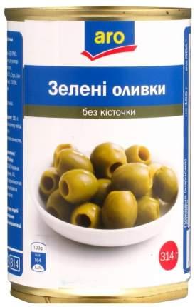 Оливки Aro зеленые без косточки 314 мл