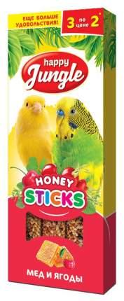 Лакомства для птиц Happy Jungle Мед и ягоды, 50 г