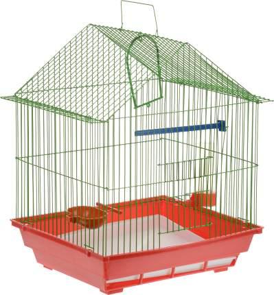 Клетка для птиц ZooMark, малая, домик, комплект, 39 х 28 х 42 см