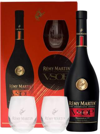 Коньяк Remy Martin VSOP with box and two glasses 0.7 л
