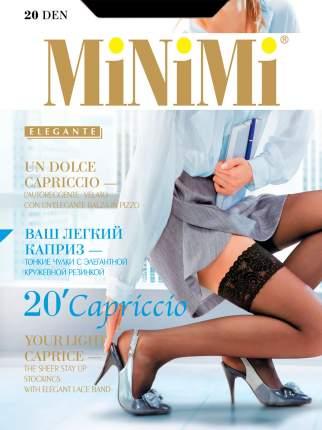 Чулки женские MiNiMi CAPRICCIO 20 черные 1-2