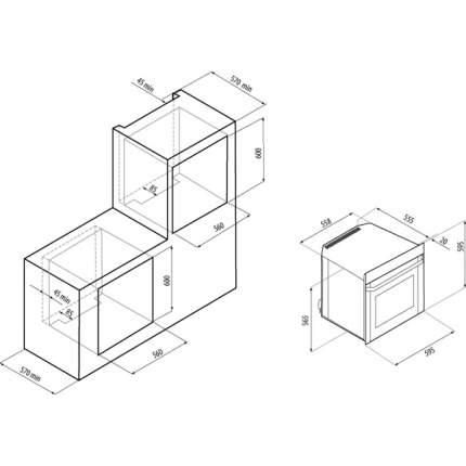 Встраиваемый электрический духовой шкаф Fornelli FEA 60 BELCANTO Silver