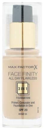 Тональный крем Max Factor Facefinity All Day Flawless 55 Beige