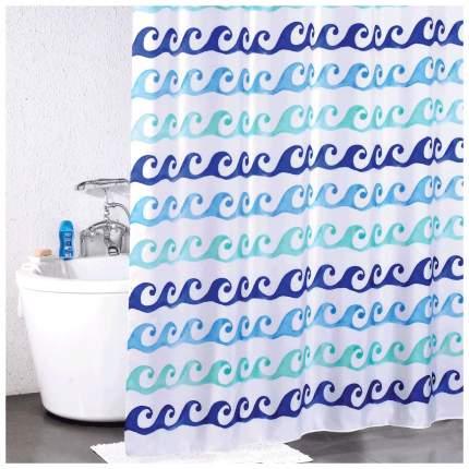 Штора для ванной Milardo Blue Curls 910P180M11