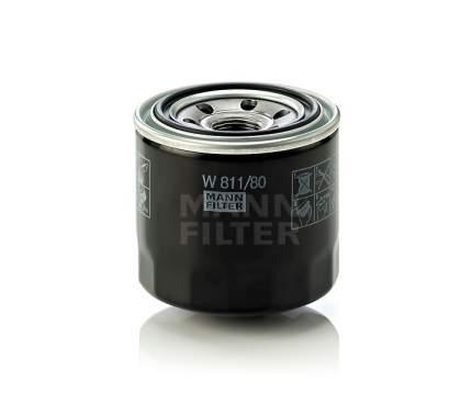 Фильтр масляный двигателя MANN-FILTER W811/80