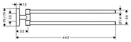 Полотенцедержатель Hansgrohe PuraVida 41512000