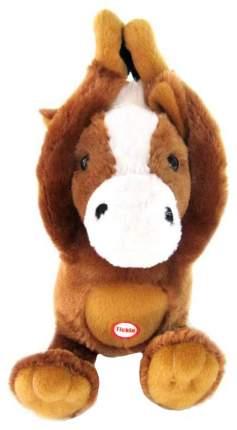 Интерактивная Мягкая игрушка Woody OTime Лошадка на магнитах боится щекотки Коричневый