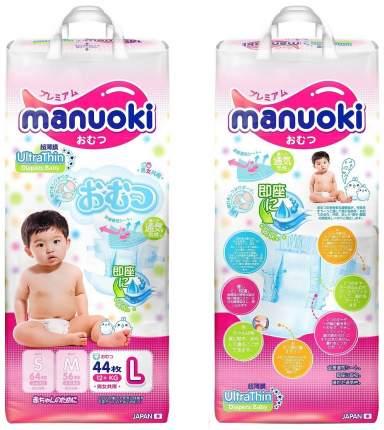 Подгузники Manuoki Ultrathin L 12+ 44 шт.