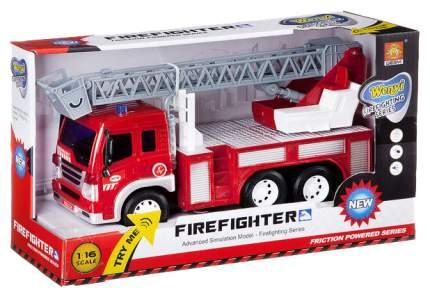Инерционная пожарная машинка WenYi Fire Fighting (свет, звук), 1:16