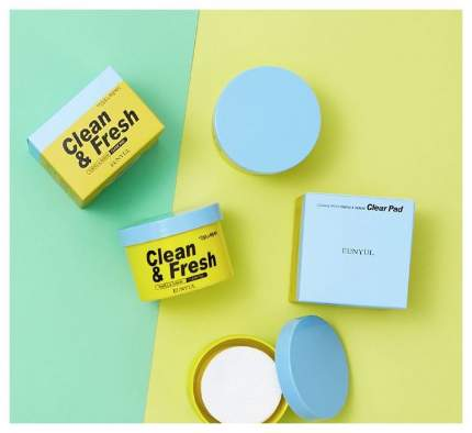 EUNYUL Очищающие диски EUNYUL Clean & Fresh Pimple & Sebum Clear Pad с кислотами, 170 мл,