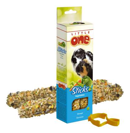 Лакомство для грызунов Little One One Sticks Vegetables, палочки с овощами, 120г