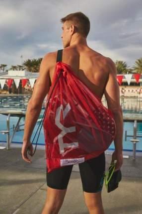 Сумка-сетка для бассейна TYR Alliance Mesh Equipment Bag красная (610)