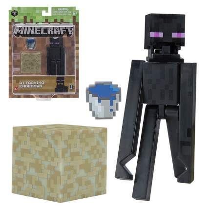 Набор фигурок Jazwares Games: Minecraft: Attacking Enderman