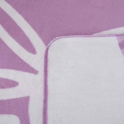 Плед детский Ермолино байковый х/б 140*100 ПРЕМИУМ NEW(валериана зайка) фиолетовый