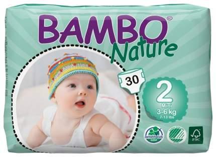 Подгузники для новорожденных детские Bambo Nature Mini 2, 3-6 кг, 30 шт.
