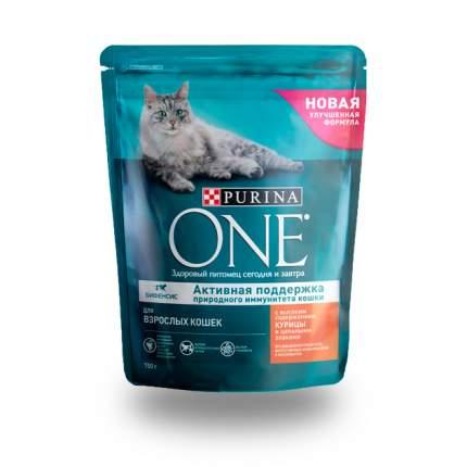 Сухой корм для кошек Purina One, для стерилизованных, курица, цельные злаки, 0,75кг