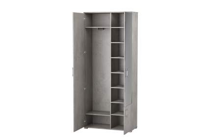 Платяной шкаф Hoff Монблан 80328844 90х212х40, бетон чикаго светло-серый