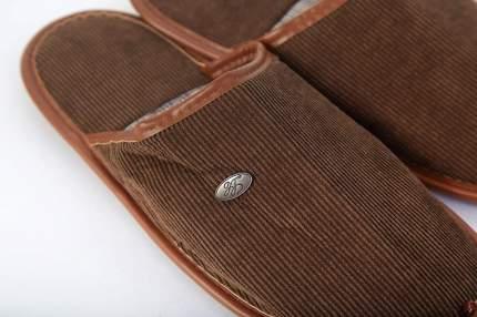 Домашние тапочки мужские Hoff 2847M коричневые 41-46 RU