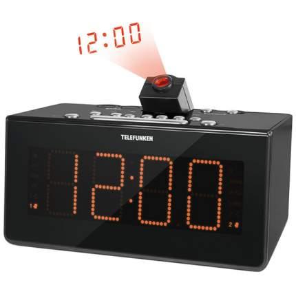Радио-часы Telefunken TF-1542 Black/Orange