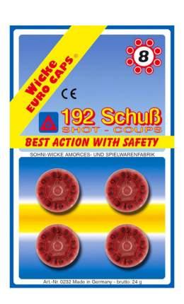 Пистоны Sohni-Wicke 8-зарядные 192 шт. блистер упаковка-карта
