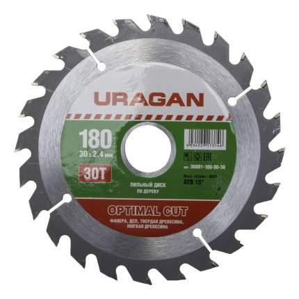 Пильный диск по дереву  Uragan 36801-180-30-30