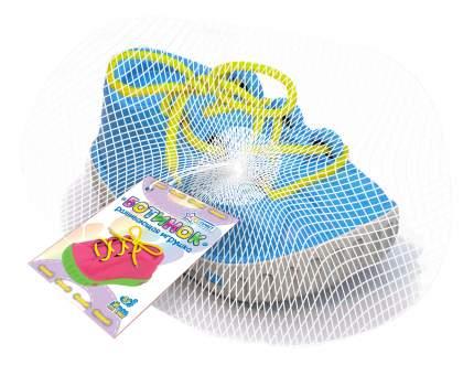 Дидактическая игрушка ботинок-шнуровка (в сетке)