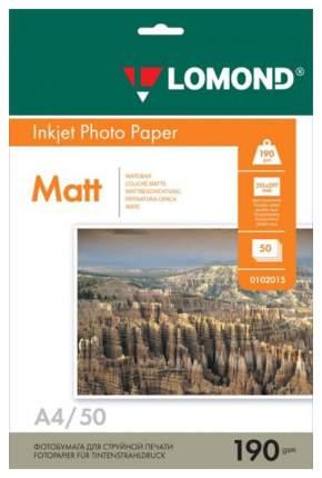 Фотобумага для принтера A4 Lomond 190г/кв.м двухсторонняя матовая 50 л
