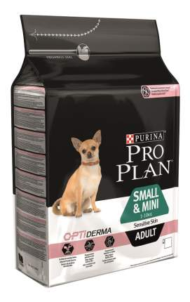 Сухой корм для собак PRO PLAN OptiDerma Small & Mini Adult, для мелких пород, лосось, 3кг