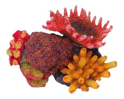 Искусственный коралл Fauna International кораллы на рифе, разноцветный, 11,5х8,5х8см
