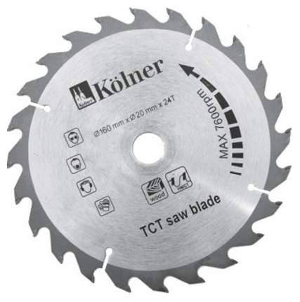 Диск пильный Kolner KSD160х20х24 серый (кн160-20-24)